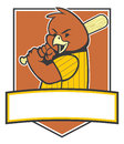 Bird baseball player vector of Royalty Free Stock Image