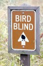 Bird Blind Sign Royalty Free Stock Photo