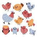 Bird character vector design