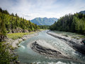 Bird Creek Fishing Spot along Seward HIghway, Alaska Royalty Free Stock Photo