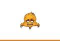 Bird emoji Tired Royalty Free Stock Photo