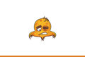 Bird emoji Tired winking. Royalty Free Stock Photo