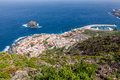 Bird eye-view of Garachico, Tenerife. Royalty Free Stock Photography