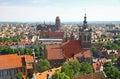 Bird eye view of Gdansk city centre, Poland Royalty Free Stock Photo