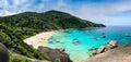 Bird eye view of island Royalty Free Stock Photo