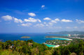 Bird eye view of phuket thailand southern Stock Photo