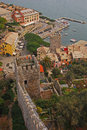Bird eye view of porto venere from doria castle Royalty Free Stock Photo