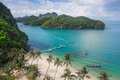 Bird eye view of sea thailand mu ko ang thong island national p beach sky with at this place is a marine park in the gulf Royalty Free Stock Images