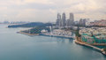 Bird eye view of Sentosa island Royalty Free Stock Photo