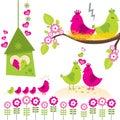 Bird Family Royalty Free Stock Photo