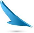 Bird in flight, bird and airplane logo