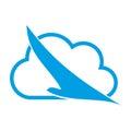 Bird in flight and cloud, bird and airplane logo