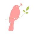 Bird with flower in beak