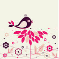 Bird and flowers Royalty Free Stock Photos