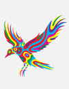 Bird flying abstract colorfully Royalty Free Stock Photo