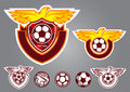 bird football logo vector emblem