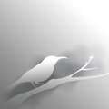 Bird in grey background with shadow created vector format Royalty Free Stock Photography