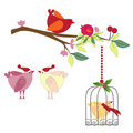 Bird holiday set Royalty Free Stock Photo