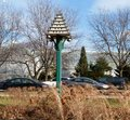 Bird hotel this is a picture of a large birdhouse in lincoln park in chicago illinois the purple martin birdhouse has the iconic Stock Photos