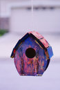 Bird house a colored taken in florida Royalty Free Stock Images