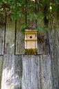 Bird house in farm with wooden materials Stock Images