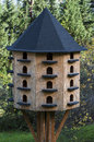 Bird house hotel Royalty Free Stock Images