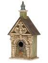 Bird house ornate isolated on white Stock Images