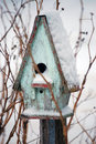 Bird House in Winter Royalty Free Stock Photo