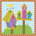 Bird Houses Royalty Free Stock Photo