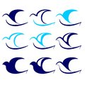 Bird icon set vector  illustration Royalty Free Stock Images