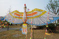 Bird kite th poly international kite festival march th th chengdu china Royalty Free Stock Images