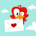 Bird love card Stock Images