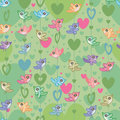 Bird Love Seamless Pattern_eps Royalty Free Stock Images