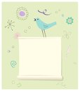 Bird with a Message Page Royalty Free Stock Photo