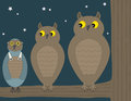 Bird in owl costume vector available Stock Images