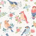 Bird pastel pattern
