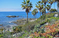 Bird Rock below Heisler Park in Laguna Beach, California. Royalty Free Stock Photo