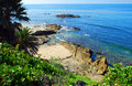 Bird Rock off Heisler Park. Laguna Beach, California. Royalty Free Stock Photo