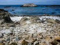 The bird rock pebble beach ca mile drive california usa Royalty Free Stock Image