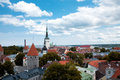 Bird's-eye Ansicht Tallinn `s der Mitte Stockfotos
