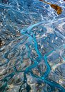Bird`s eye of Rivers from mountain Royalty Free Stock Photo