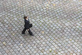 Bird s eye view of a businesswoman walking on the streets Stock Photo