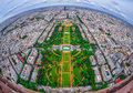 Bird s eye view of the city of paris france photographed from eiffel tower Stock Image