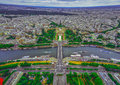Bird s eye view of the city of paris france photographed from eiffel tower Royalty Free Stock Image