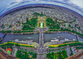 Bird s eye view of the city of paris france photographed from eiffel tower Stock Photo