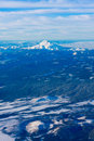 Bird's Eye view of Mt. Hood in Oregon, USA. Stock Images