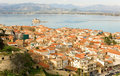 Bird's-eye view of Nafplion center Royalty Free Stock Photography