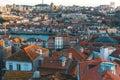 Bird`s-eye view old downtown of Porto