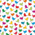 Bird seamless pattern Stock Photo