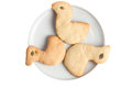 Bird shape homemade biscuit cookies Royalty Free Stock Photography